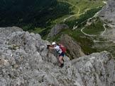 Via Normale Chiadenis - La cresta di discesa