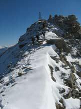 Via Normale Angelo Grande - La cresta finale