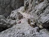 Via Normale Punta Lavina Lunga - Nel secondo tiro