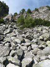 Via Normale Monte Zucchello - Il ghiaione di salita