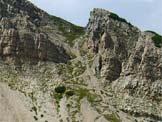 Via Normale Castellaz - Il canalone di salita