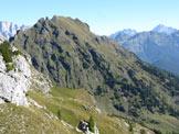 Via Normale Cimon della Stia - La cima vista salendo alla Cima di Campido