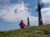 Via Normale Monte Cusna - Giuseppe Albrizio sulla vetta del Monte Cusna 2120 m