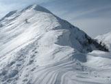 Via Normale Pizzol - Cornici lungo la cresta