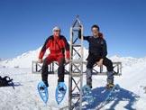 Via Normale Cima di Grem - Sulla cima con 2 m di neve