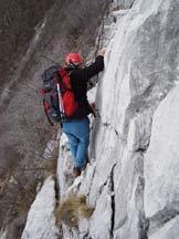 Via Normale Monte Pizzocolo - Cresta SE - Passaggio in cresta