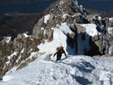 Via Normale Grigna Meridionale - Canalone Caimi - Cresta prima della cima