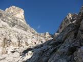 Via Normale Monte Pelmo - Uscita dalla cengia di Ball