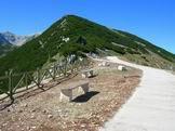 Via Normale Monte Blockhaus - Il piazzale del Blockhaus, sulla cima c´era il fortino Borbonico