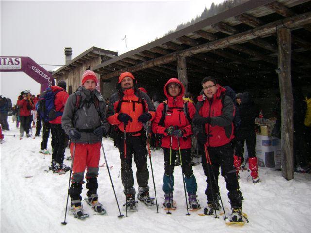 Via Normale Piz Trì - Ristoro sotto la neve