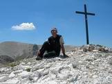 Via Normale Cima delle Murelle - Giuseppe Albrizio sulla Cima delle Murelle 2596 m
