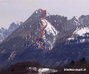 Via Normale Monte Dolada