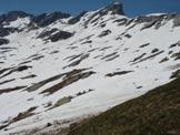 Via Normale Pizzo Porcaresc - La salita al Passo del Lago della Cavegna. Si intravedono le tracce lasciate dall´ autore.