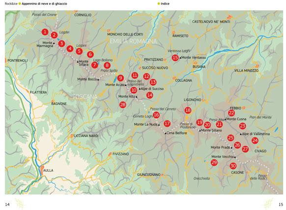 Distribuzione itinerari in Appennino
