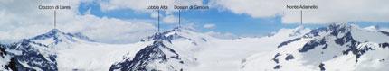 Panoramiche di montagna Cima Presena