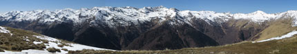 Panoramiche di montagna Motto di Paraone
