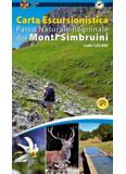 Libro montagna Carta escursionistica Parco dei Monti Simbruini