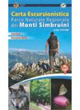 Libro montagna Parco naturale regionale dei Monti Simbruini - Carta escursionistica
