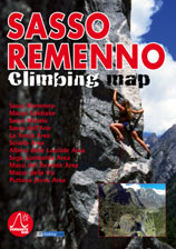 Libro montagna Sasso Remenno Climbing Map
