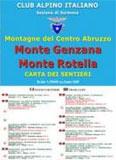 Libro montagna Carta Monte Genzana e Monte Rotella