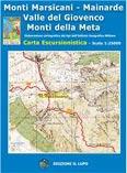 Libro montagna Carta Monti Marsicani, Monti della Meta, Valle del Giovenco, Mainarde