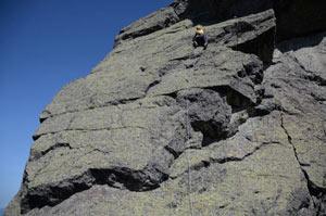 Lo scrigno delle Orobie - Impegnato sul tratto pi� spettacolare al Torrione di Mezzaluna