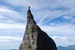 Prealpi e Alpi Orobie - La meravigliosa vetta del vescovo mitrato del Torrione Sant'Ambrogio