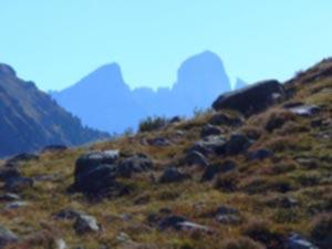 Cima di Bragarolo - L'imponente sagoma della Pala di San Martino