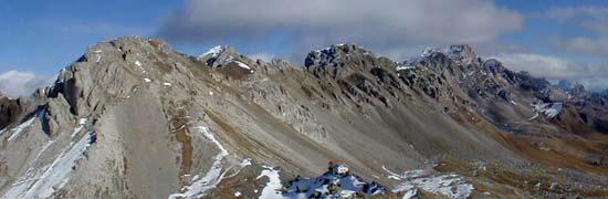Vista della cresta di Costabella dalla P.ta de le Sele