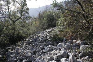 Monte Cavallo - Le pietre accatastate che formano El Sercol