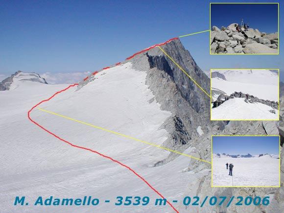 Scalata fotografica Monte Adamello