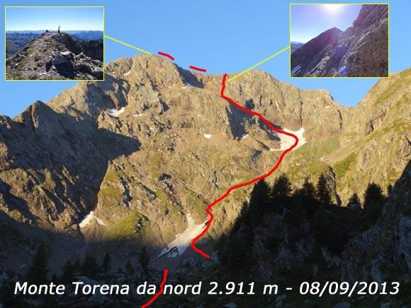 Scalata fotografica Monte Torena da nord