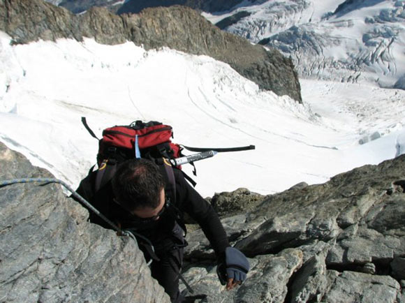 Pizzo Bernina - Arrampicando in discesa