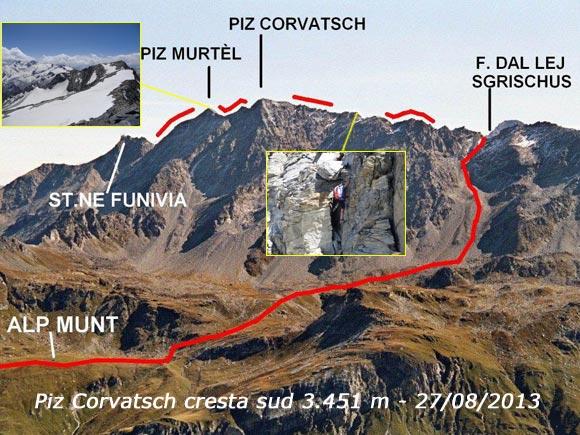 Scalata fotografica Piz Corvatsch Cresta Sud