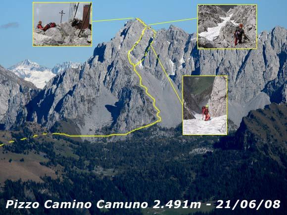 Scalata fotografica Pizzo Camino Camuno