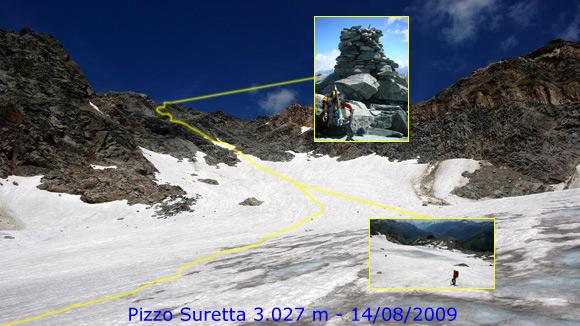 Scalata fotografica Pizzo Suretta