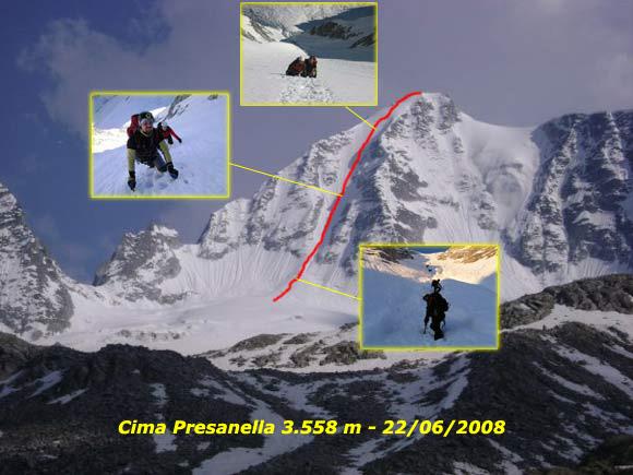 Scalata fotografica Cima Presanella - Parete Nord