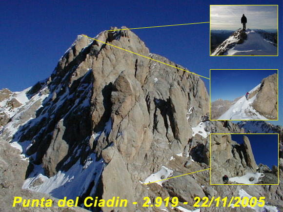 Scalata fotografica Punta del Ciadin