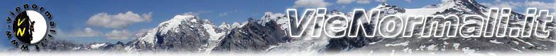VieNormali.it è il portale italiano delle vie normali di salita alle cime delle Alpi, Dolomiti ed Appennini: centinaia di relazioni di scalate in montagna per la via normale alla cima, itinerari alpinistici, percorsi su roccia e ghiacciaio, vie di roccia, percorsi escursionistici con descrizione dettagliata degli itinerari di salita, tempi, difficoltà ed attrezzatura necessaria.
