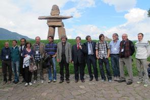 Foto di gruppo degli alppinisti
