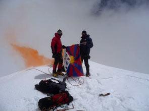 Sad Smoky Mountains - Foto Damiano Barabino, Edoardo Rixi & Giuseppe Gabbia sul Chopicalqui
