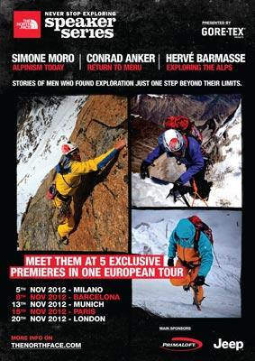 Locandina The North Face Speaker Series 2012 European Tour