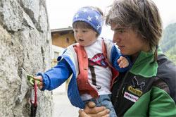 Simon Gietl con il figlio