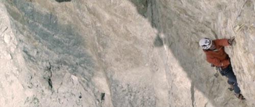 Simon Gietl in arrampicata