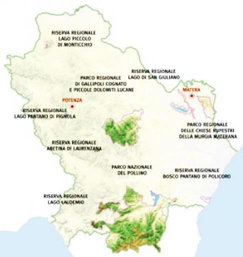 Parchi e aree protette della Basilicata