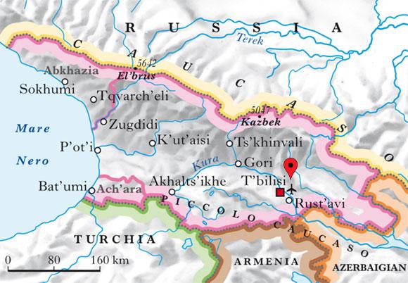 Carta geografica Georgia