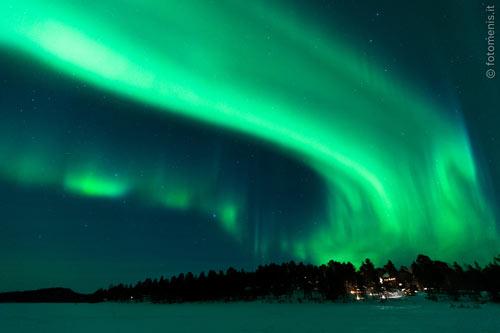 Viaggio aurore boreali in lapponia for Sfondi desktop aurora boreale
