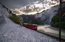Engadina St. Moritz - Rhaetische Bahn biker e Trottinett (by Rhaetische Bahn)