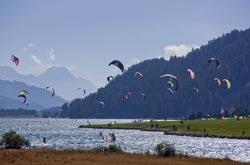 Kitesurf nei laghi dell'Engadina