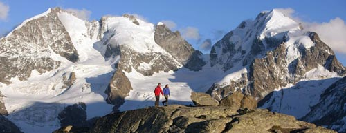 Montagne Engadina in Svizzera